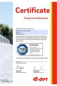 Certificate Hdropwer