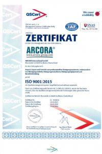 Zertifikat 9001 DE
