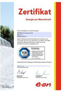 Zertifikat Aqua